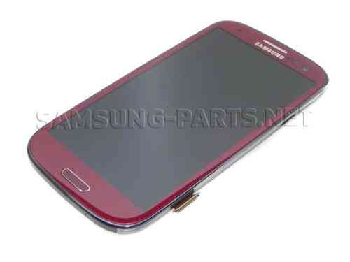 Samsung Galaxy S3 GT-I9300 LCD Screen Red